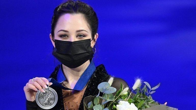 Елизавета Туктамышева ссеребряной медальюЧМ. Фото AFP