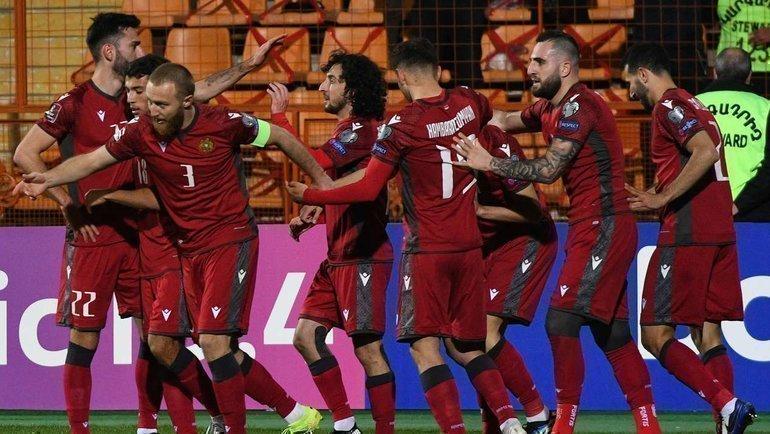 31марта. Армения— Румыния— 3:2. Фото AFP