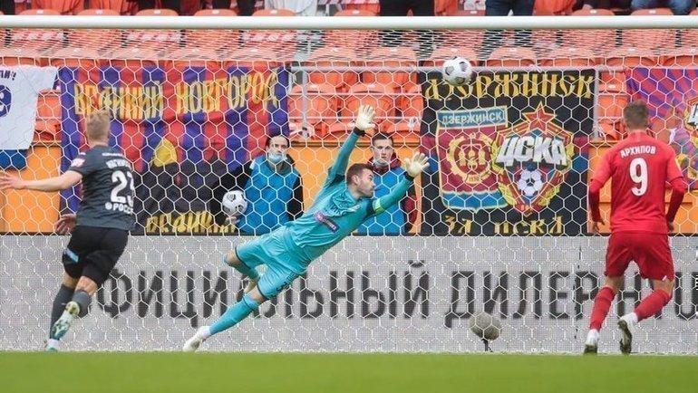 Пенальти впользу ЦСКА назначали ВАР, арбитр иего помощник. ВСаранске отрабатывали 11-метровые