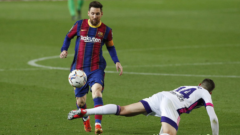 5апреля. Барселона. «Барселона»— «Вальядолид»— 1:0. Лионель Месси вигре. Фото Reuters