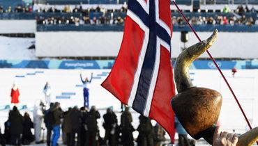 Флаг норвежской сборной.
