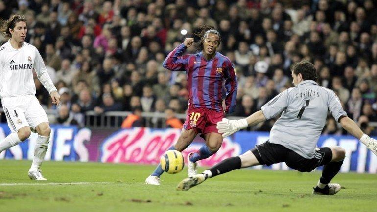 «Из-за наслаждения голами яине заметил овации». Аплодисменты фанатов «Реала» вадрес Роналдинью— один извеличайших моментов класико