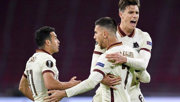 Лоренцо Пеллегрини празднует гол. Фото ФК «Рома».