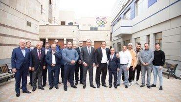 Делегация Олимпийского комитета России вАрмении.