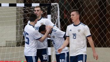 Сборная России помини-футболу гарантировала себе первое место вотборочной группе чемпионата Европы-2022