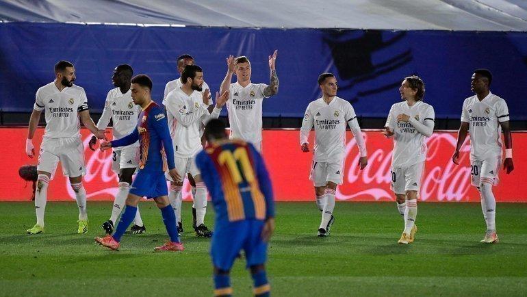 10апреля. «Реал»— «Барселона». Хозяева празднуют второй гол. Фото AFP