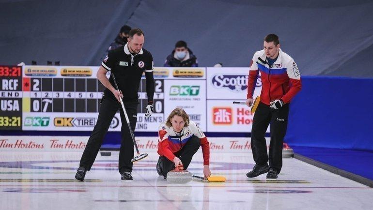 Мужская сборная России проиграла швейцарцам сосчетом 5:6 вматче затретье местоЧМ. Фото curling.ru