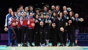 В2017-м году наWorld Team Trophy российские фигуристы заняли второе место.