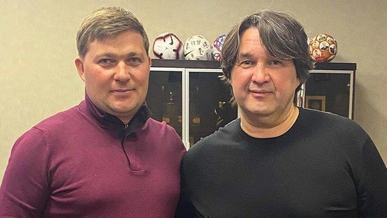 Алексей Стукалов иШамиль Газизов. Фото ФК «Уфа»