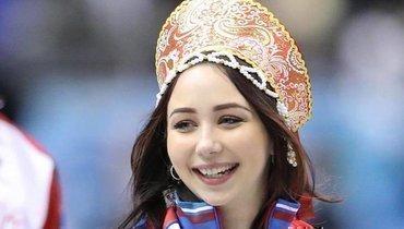 Капитан сборной России накомандном чемпионате мира Елизавета Туктамышева.