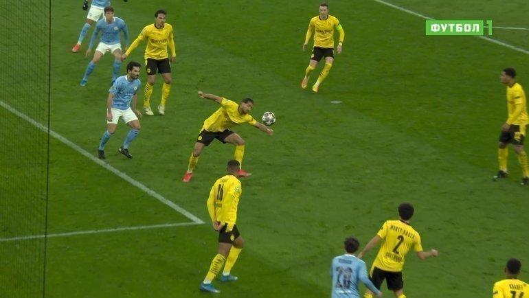Скриншот эфира «Матч! Футбол 1».