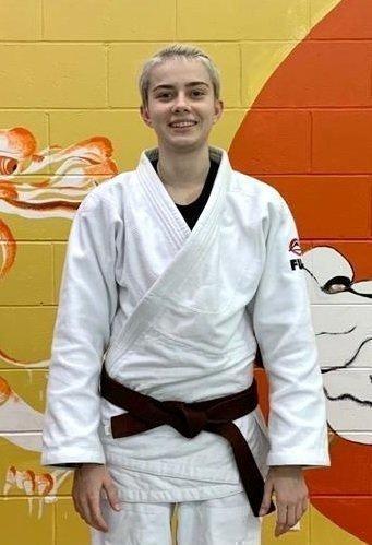 Коричневый пояс подтвержден поклассификации федерации дзюдо США (USJF иUSA Judo). Фото изархива Валерии Мамлеевой