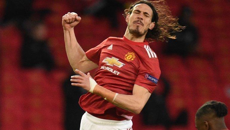 15апреля. Манчестер. «Манчестер Юнайтед»— «Гранада»— 1:0. Эдинсон Кавани. Фото AFP