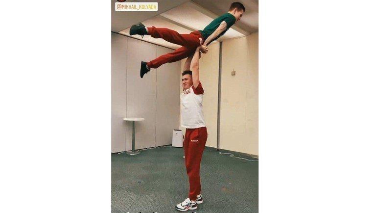 Александр Галлямов иМихаил Коляда накомандном чемпионате мира. Фото Instagram