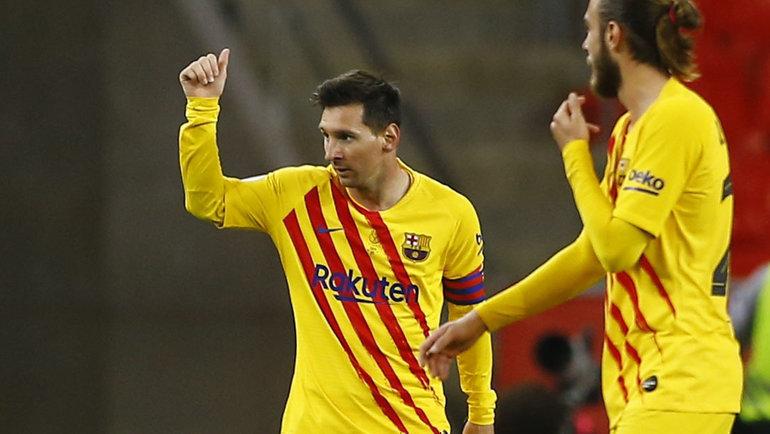 17апреля. «Атлетик»— «Барселона»— 0:4. Месси оформил дубль. Фото Reuters