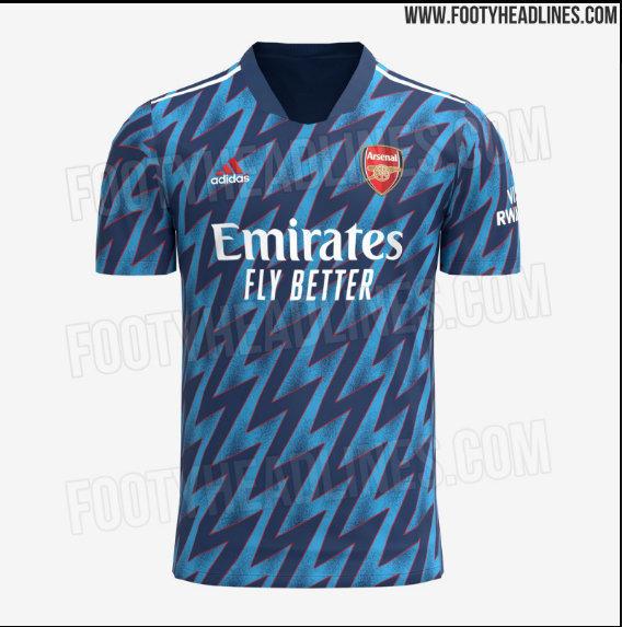 Третий комплект формы лондонского «Арсенала» на сезон-2021/2022. Фото www.footyheadlines.com