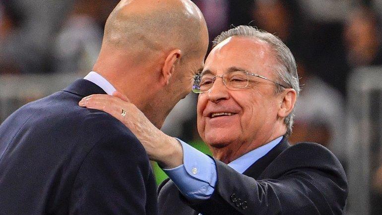 Флорентино Перес (справа). Фото AFP