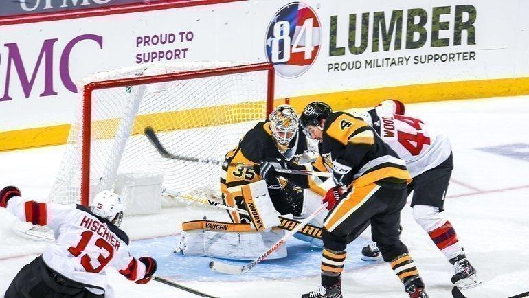 «Питтсбург» вошел висторию НХЛ после матча с «Нью-Джерси». Фото Twitter