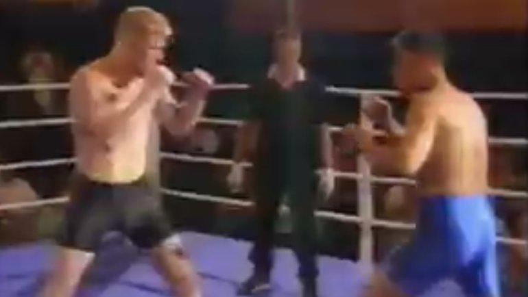 Первый бой Сергея Харитонова наголых кулаках.