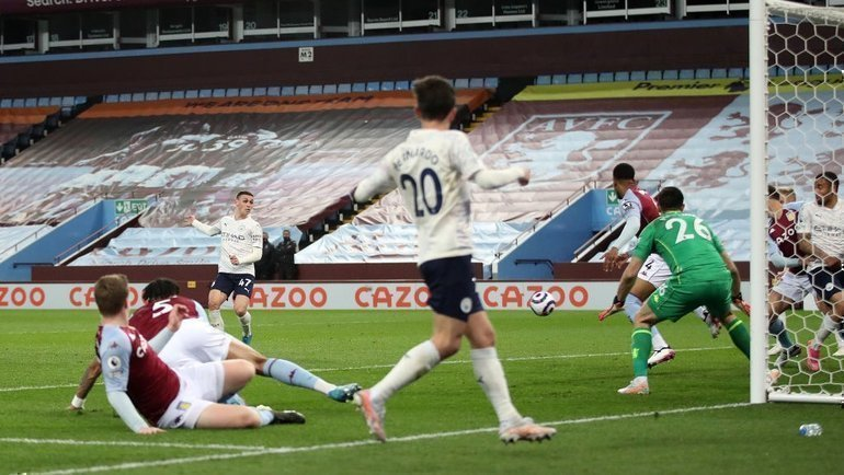 21апреля. «Астон Вилла»— «Манчестер Сити»— 1:2. Фото Twitter
