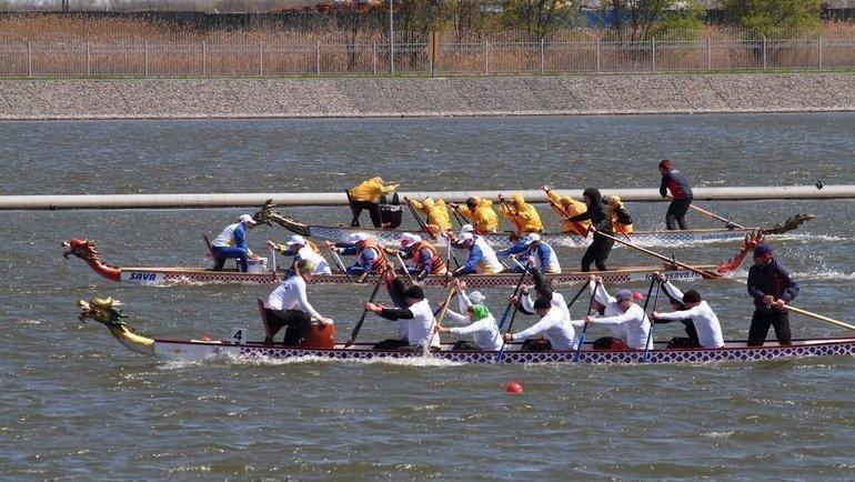 Фестиваль «Неделя спорта» нагребном канале «Дон».