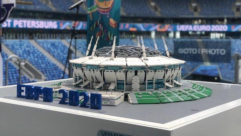 Макет стадиона «Санкт-Петербург» представлен за 50 дней до начала чемпионата Европы. Фото ТАСС
