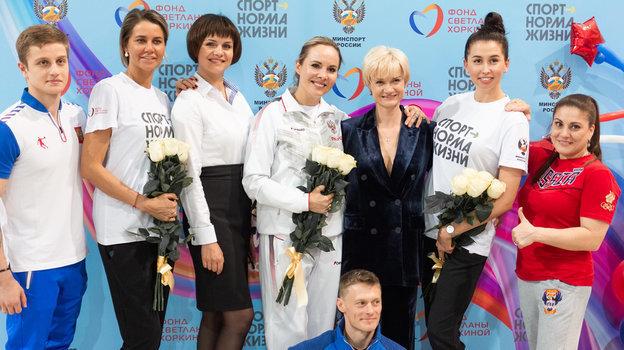 Светлана Хоркина (третья справа) на22-х традиционных Всероссийских соревнованиях поспортивной гимнастике. Фото Наталья Детянцева