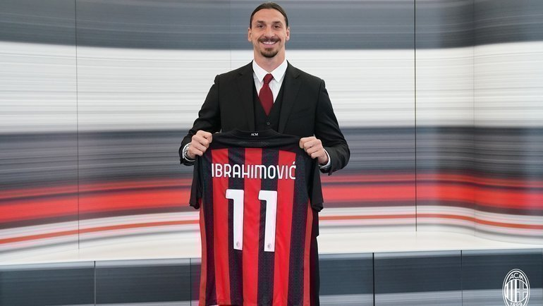 Златан Ибрагимович. Фото ФК «Милан»