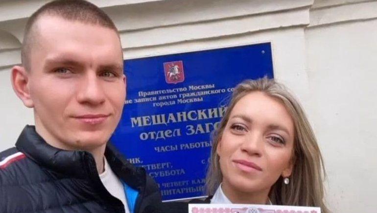 Александр Большунов ссупругой Анной Жеребятьевой. Фото Instagram