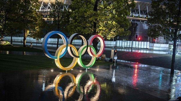 Игры-2020 вТокио: кольца волимпийском парке. Фото AFP