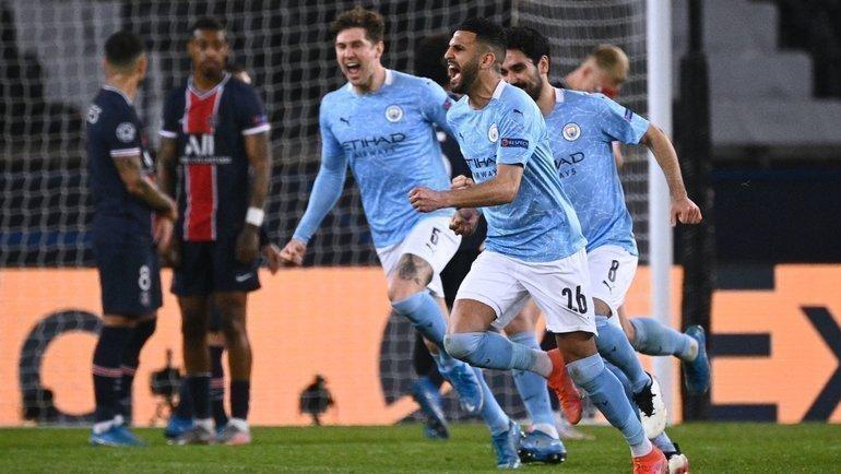 «Манчестер Сити» перевернул матч вПариже засемь минут. Гвардьола— вшаге отфинала Лиги чемпионов
