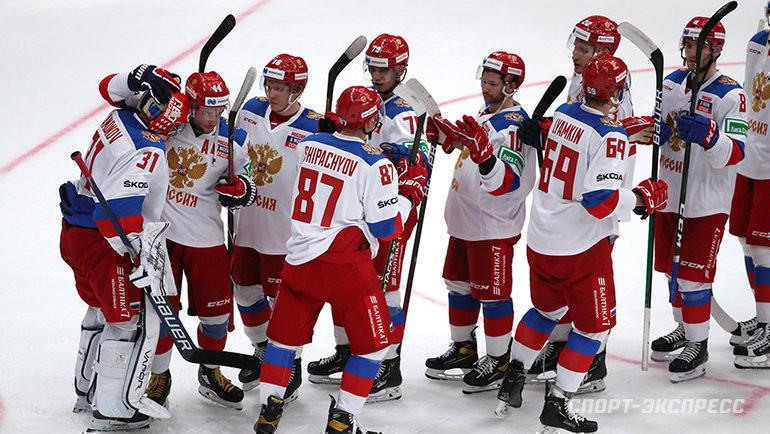 Хоккеисты сборной России. Фото Александр Федоров, «СЭ» / Canon EOS-1D X Mark II