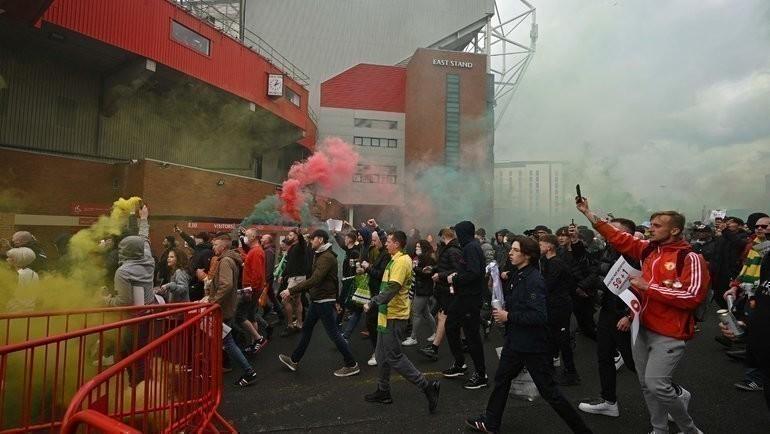 Болельщики «МЮ» устадиона «Олд Траффорд». Фото AFP