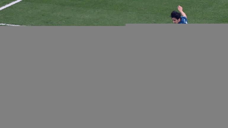 2мая. Санкт-Петербург. «Зенит»— «Локомотив». Сердар Азмун атакует ворота Гильерме впервом результативном выпаде питерцев. Фото Александр Федоров, «СЭ» / Canon EOS-1D X Mark II