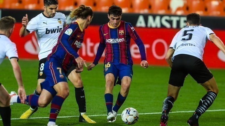 2мая. «Валенсия»— «Барселона»— 2:3. Фото ФК «Барселона».
