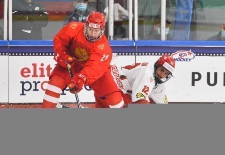 3мая. Россия— Белоруссия— 5:2. Ватаке Матвей Мичков. Фото iihf.com.