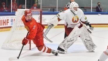 3мая. Плейно. Россия U18— Белоруссия U18— 5:2. Матвей Мичков (слева).
