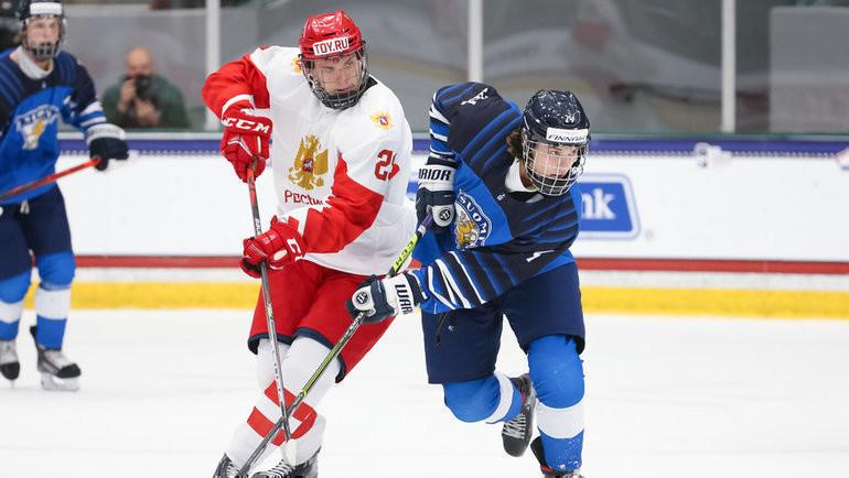 Сборная России сыграет против Финляндии вполуфинале ЮЧМ-2021. Фото IIHF