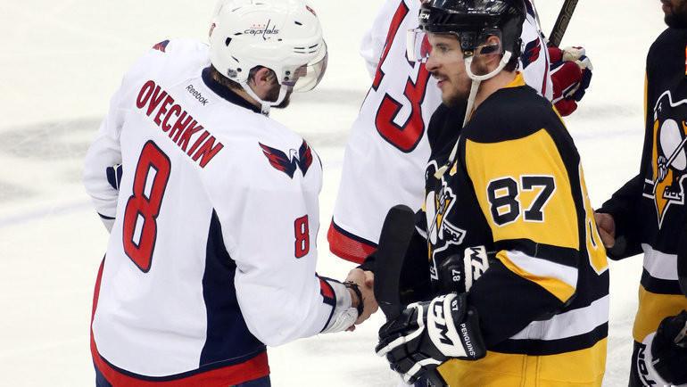 Александр Овечкин иСидни Кросби. Фото USA Today Sports