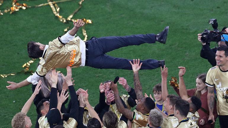 Сергей Семак нацеремонии награждения «Зенита». Фото Александр Федоров, «СЭ»