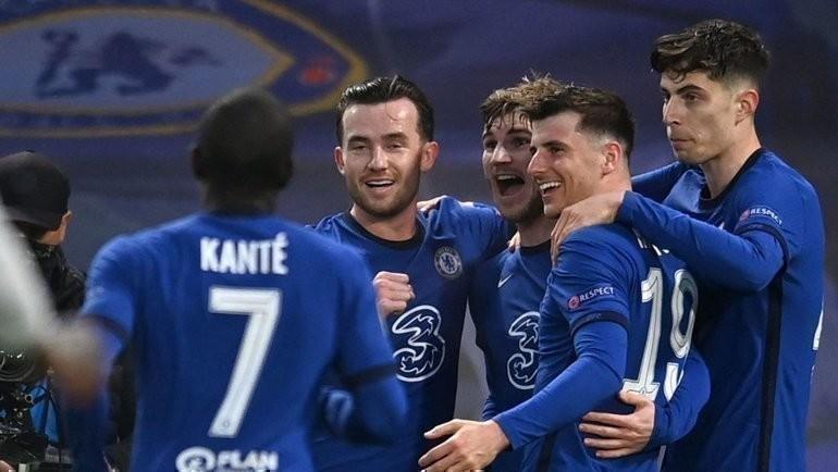 5мая. Лондон. «Челси»— «Реал»— 2:0. Радость игроков лондонского клуба. Фото AFP