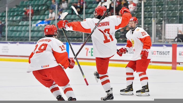 Россия вдевятый раз вистории вышла вфинал ЮЧМ. Фото IIHF