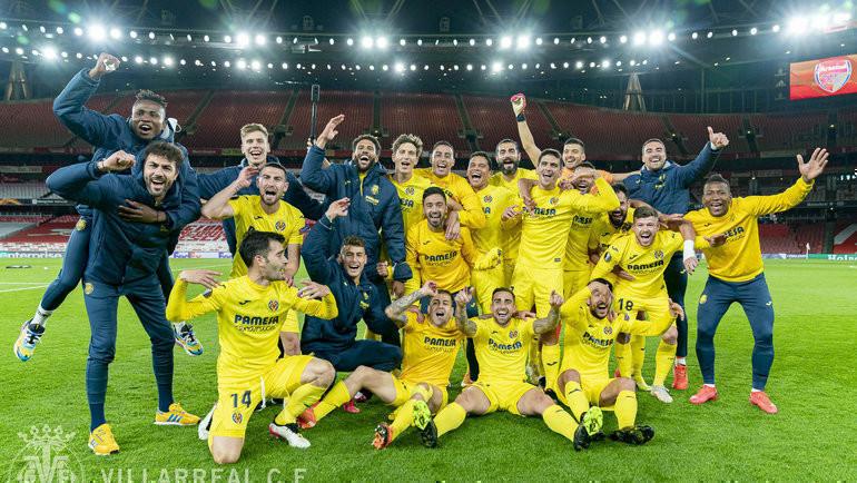 «Вильярреал» отметил выход в финал Лиги Европы. Фото ФК «Вильярреал».
