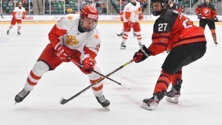 Юниорская сборная России против Канады в финале ЮЧМ-2021. Фото IIHF