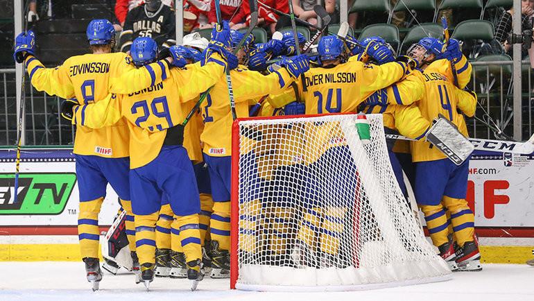 7 мая. Фриско. Финляндия U18 — Швеция U18 — 0:8. Фото IIHF