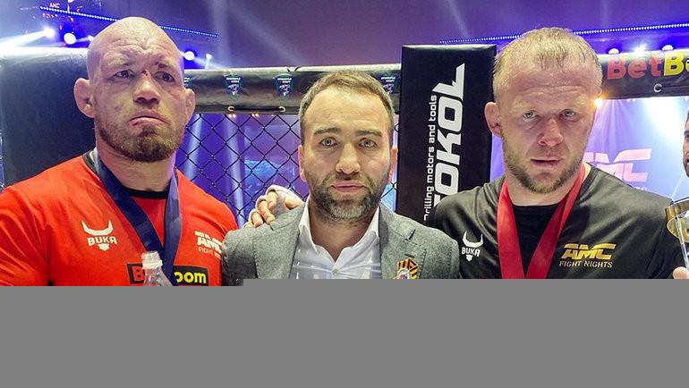 Марсио Сантос, Камил Гаджиев иАлександр Шлеменко. Фото Instagram