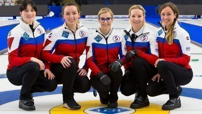 Сборная России. Фото worldcurling.org.