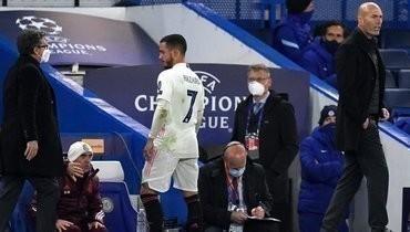 Тренер «Реала» Зидан прокомментировал поведение Азара после вылета из Лиги чемпионов