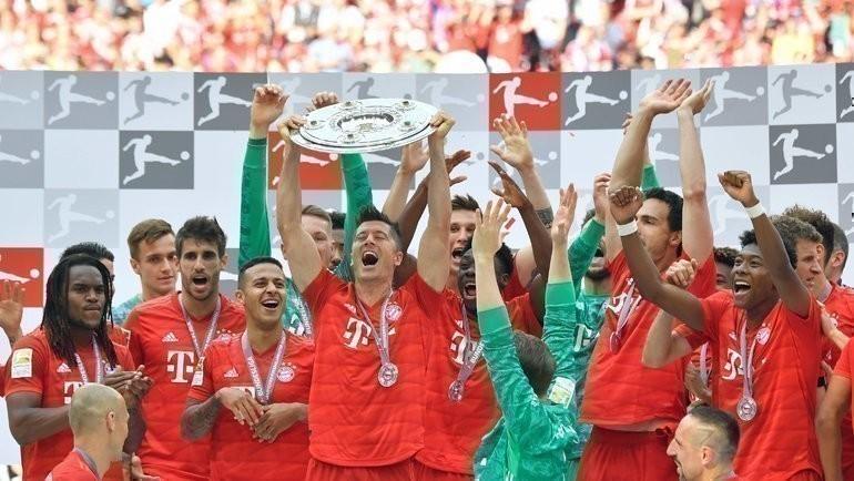 «Бавария» в31-й раз стала чемпионом Германии. Фото AFP