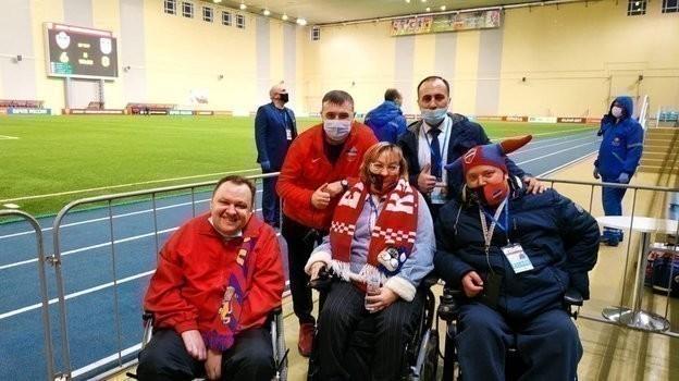 Болельщики «Енисея» сограниченными возможностями. Фото ФК «Енисей»